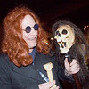 Party crasher with skull at Jenny's pirate party.