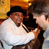 Walkin' Cain and Mark Olitsky jam after the Roots of American Music DVD release party at Nighttown, 2008.