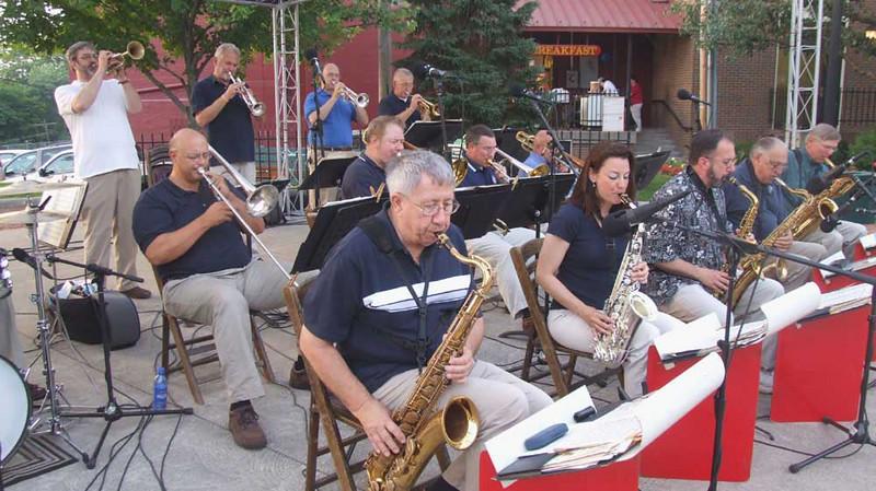 The Bob Hoefler big band, Kent, June 7, 2007.