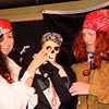 Pirate Jenny, the skeleton, and skeleton owner.