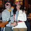 Brad and Jenny (fearing for her life) at Jenny's pirate party.