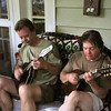 Bill Lestock and Dave Howard at Jen Maurer's summer pickin' party.