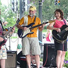 Lucas Kadish, Brad, and Christie at Kent Heritage Fest, 2008.  Lucas played 54 songs that day.