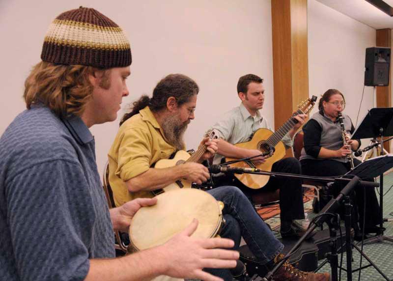 Ohio Choro Club at folk fest.