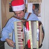"Ed ""the Santa"" Cetrone just before a killin' riff"