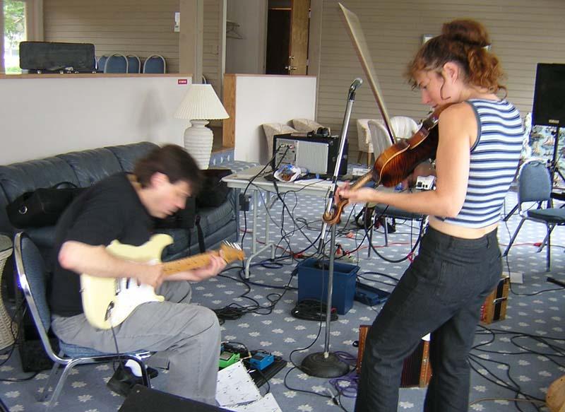 Joe Smith and Jen at Meyers Lake Studios