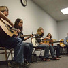 Dale Galgozy's student workshop at the Kent State Folk Fest.  The standout player is Lucas, kid on the far right.  He played a very complex Steve Howe piece, fingerpicking, all over the neck.  And he's only 12.
