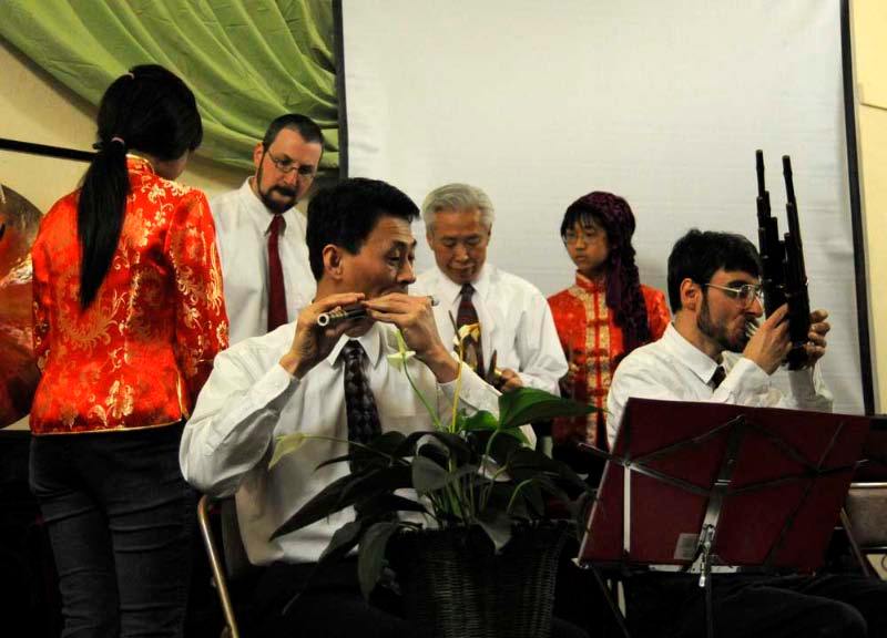 Cleveland Chinese ensemble at the Kent UU cancer benefit.