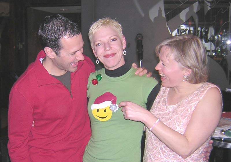 Dean, Paulette, and Peggy at Cite Grille at our last gig.