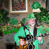 Me at Papa Joe's for St. Patty's day.  Enough green 4 ya?  Note green squeeker frogs around my neck.  Not seen - matching green frog socks.