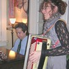 Ed and Jen rockin' out on a Christmas tune.