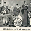"The Statesmen, a band I was in in high school.  We played every weekend at ""Club 221"" in Pepper Pike.  Ya had to be under 21 to get in the club (no alcohol), hence the name.  This was our business card.  Dig the mod jackets and shirts !!  Cool, baby !!  Dave Smelko was the drummer - he went on to form Rastus, a fine early funk/rock band that got some national exposure."