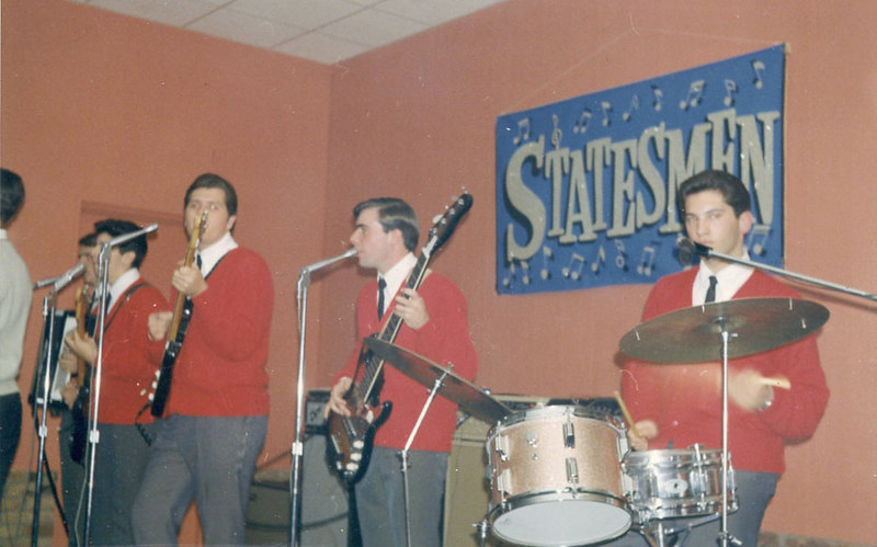 "Brad and the Statesmen at Club 221, Pepper Pike, spring 1966.  While other bands were borrowing from the British invasion, we were doing lame US pop covers and watered down Motown.  Dig the funky Cordovox on the left - an accordion that can sound like a cheap organ, too.  Which one is me?  Hint - I don't play drums, and I'm short.   The guitar player was the first to show me how feedback worked - He said ""Listen to this!"", held his guitar in front of his amp, and the thing started to sing.  I was never the same."
