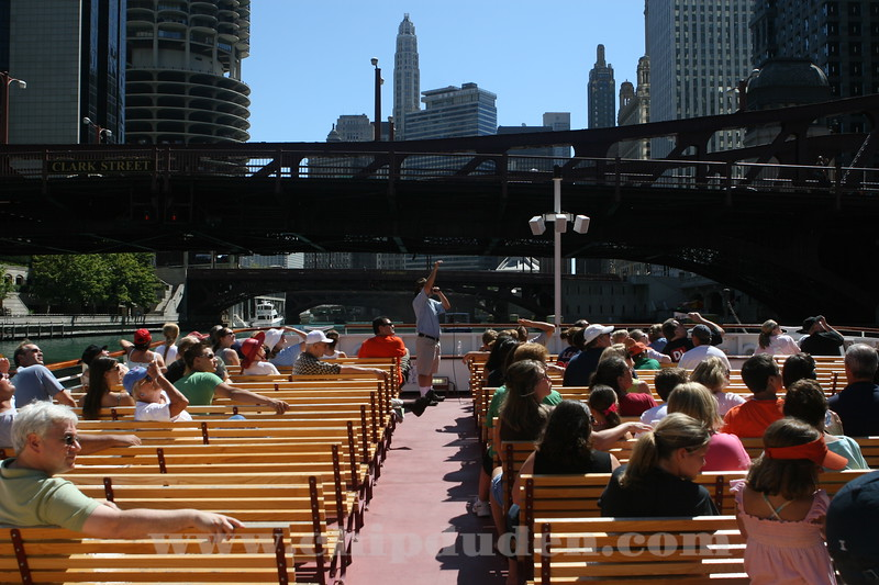 Architectural tour on the Chicago river.  Very cool.