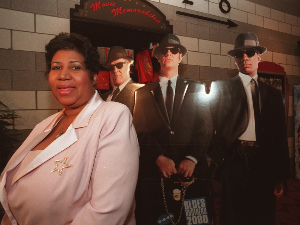 . Aretha Franklin, The Queen of Soul was present for a private screening of the Blues Brothers 2000 movie at the Star Southfield.