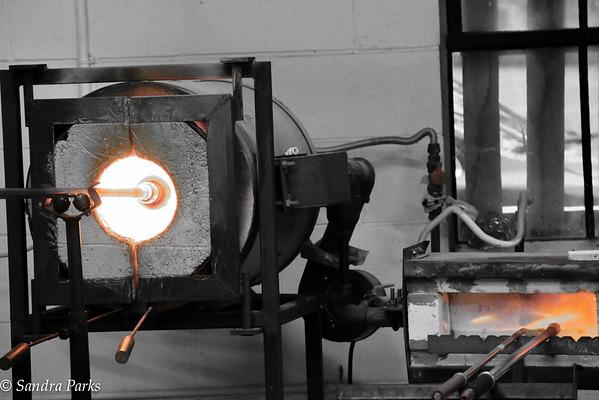 Glass blowing, Sunspots Studios