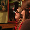 Molly Murch and Jess Bergh, listening to Lorie Lichtenwalner and John Lilly, Little Grill March 14, 2014