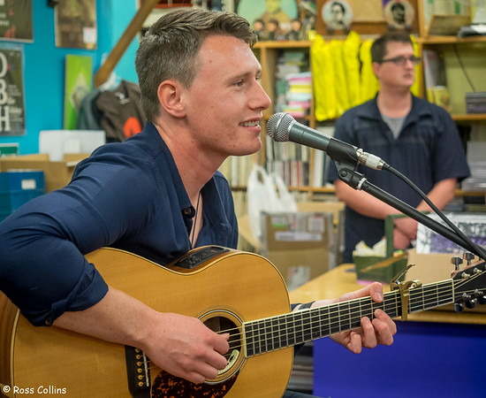 Louis Baker at Slow Boat Records, Wellington, 19 April 2014