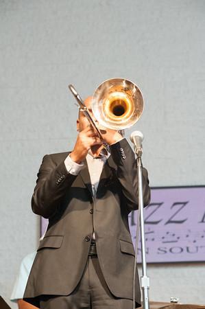 Reginald Cyntje shows his chops on trombone.