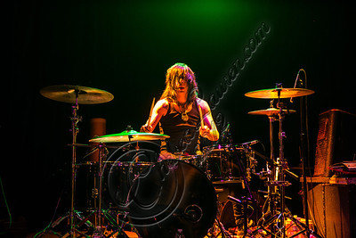 WEST HOLLYWOOD, CA - NOVEMBER 10:  Drummer Danny Excess of Love and a .38 performs at The Roxy Theater on November 10, 2012 in West Hollywood, California.  (Photo by Chelsea Lauren/WireImage)