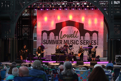 The Eagles Hotel California, a tribute band, plays at Boarding House Park in the first concert of the 2021 Lowell Summer Music Series. SUN/Julia Malakie