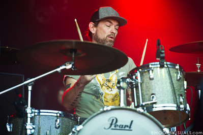Roy Berry of Lucero performs at The Citrus Bowl in Orlando, Florida during Orlando Calling on November 12, 2011
