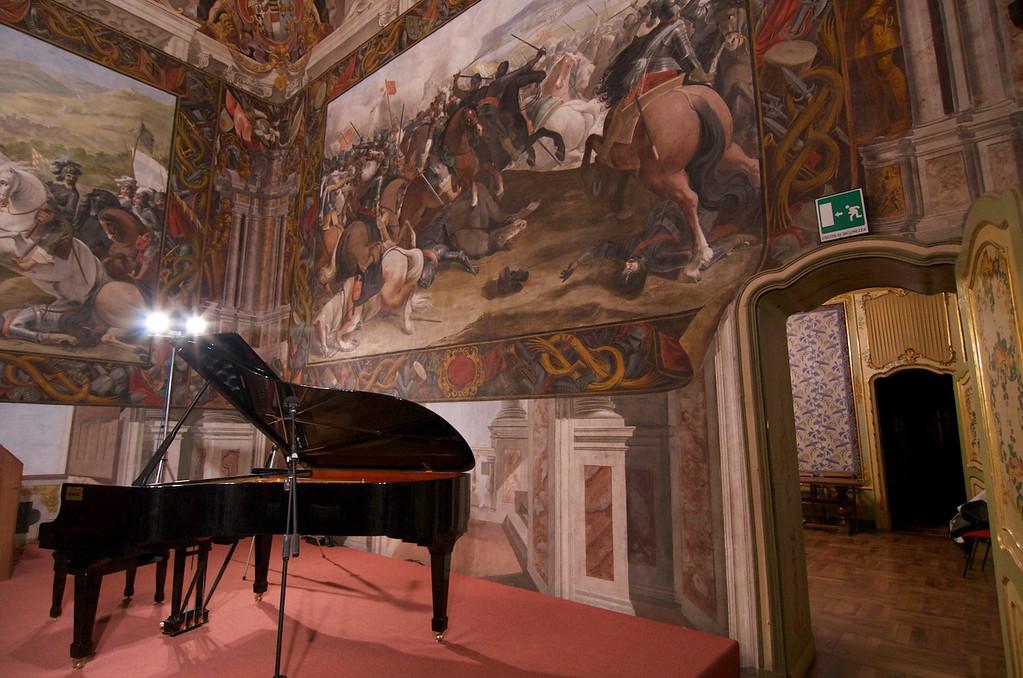 Aula Regia, affreschi su Vittorio Amedeo I, Palazzo Taffini d'Acceglio - Savigliano