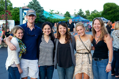 Jenny and Brad Morgan, Debra Basaldua, Michelle Pham, Jessica Johnson and Angie Sexton from Hyde Park at Riverbend for The Lumineers