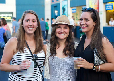 Sarah Wagner from Dayton, Abigail and Stephanie Walters from Cincinnati at Riverbend for The Lumineers
