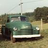 Luther Davis 1950 chevy truck, August 1982