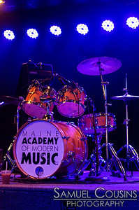 The official Maine Academy of Modern Music drum kit.