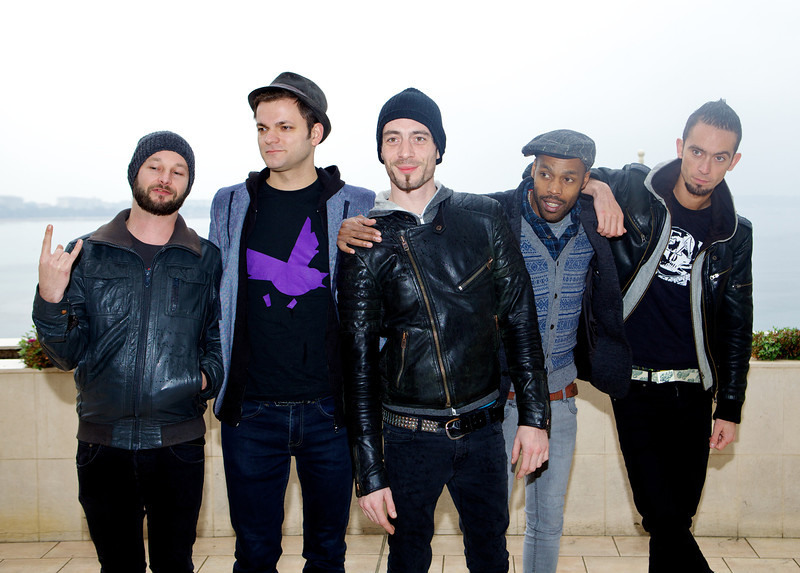 The band Skip the Use - MIDEM 2012 photocall