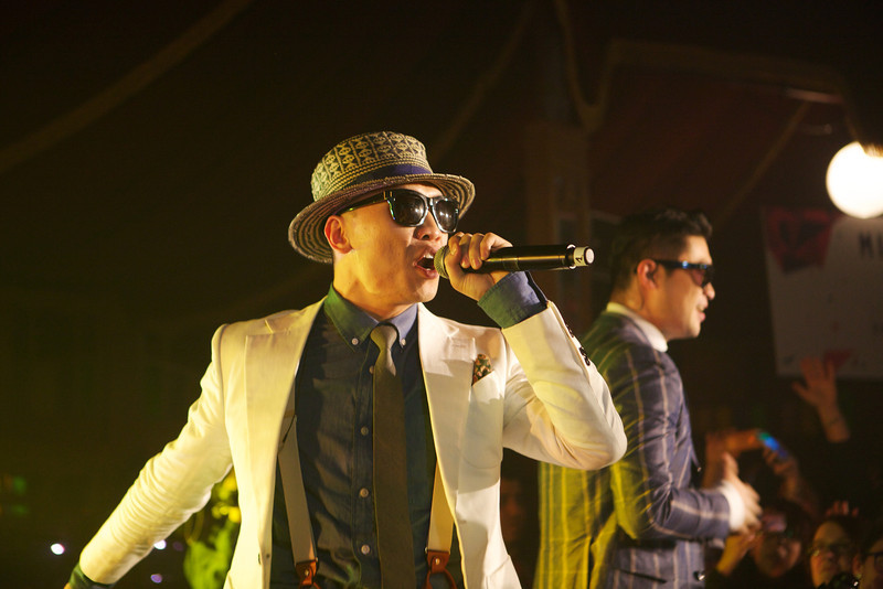 South Korean rap band Dynamic Duo performs at MIDEM 2014