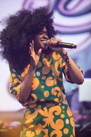 Londonian singer Iris Gold performs at Midem 2017.