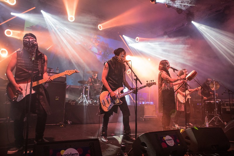 Rock band The Chairman from Taiwan play at Midem 2017