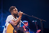 British singer Jake Isaac performs at Midem 2017