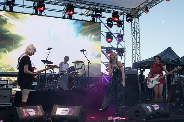 Birtish rock brand Dream Wife plays at Midem 2017