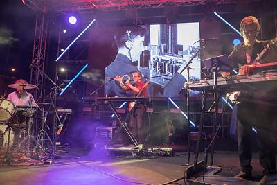 Birtish alternative rock band Public Service Broadcasting plays at Midem 2017