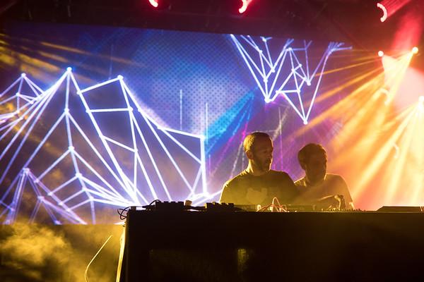 French DJ duet Acid Arab performs at Midem 2017