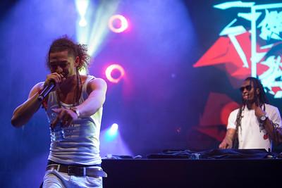 Rapper and DJ duet Mongoose X Sliscobars perform at Midem 2017