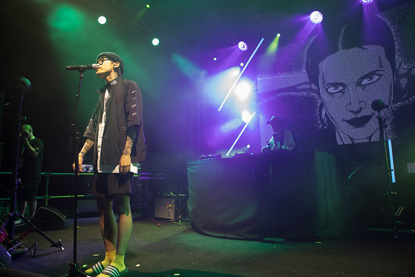 Rapper XXX from South Korea performs at Midem 2017