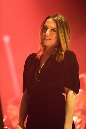 British singer Melanie C. (ex Spice Girl Sporty Spice) sings with Leslie Mandoki's Soulmates band at Midem 2017 in the Palais des Festivals in Cannes