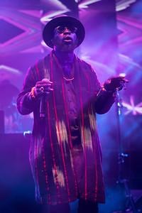 Rapper/singer M.anifest from Ghana performs at Midem 2017.