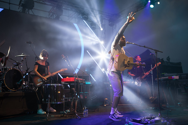 British singer Jake Isaac performs at Midem 2017
