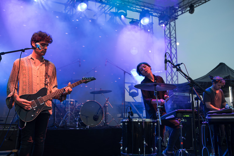 Rock band Miss Garrison from Chile plays at Midem 2017