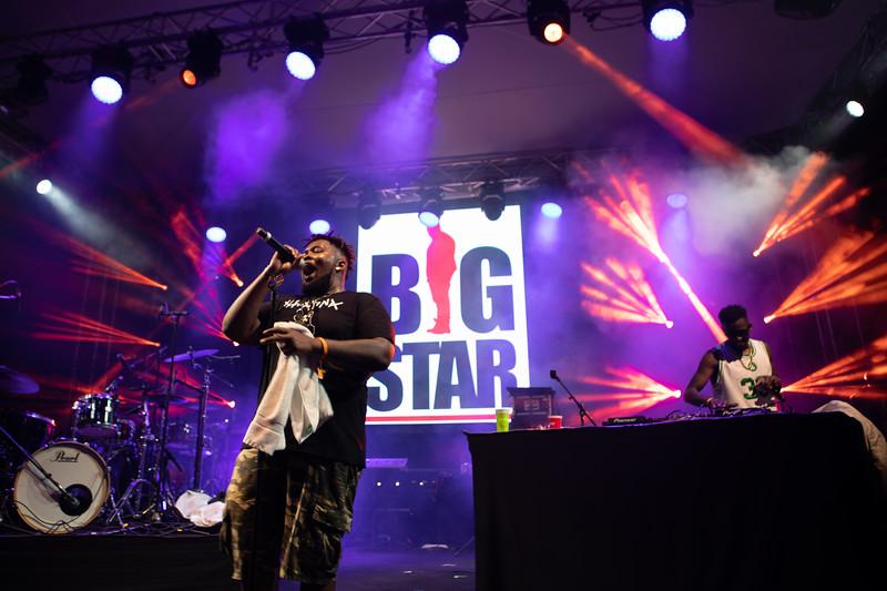 Hip-hop singer Big Star at MIDEM 2018