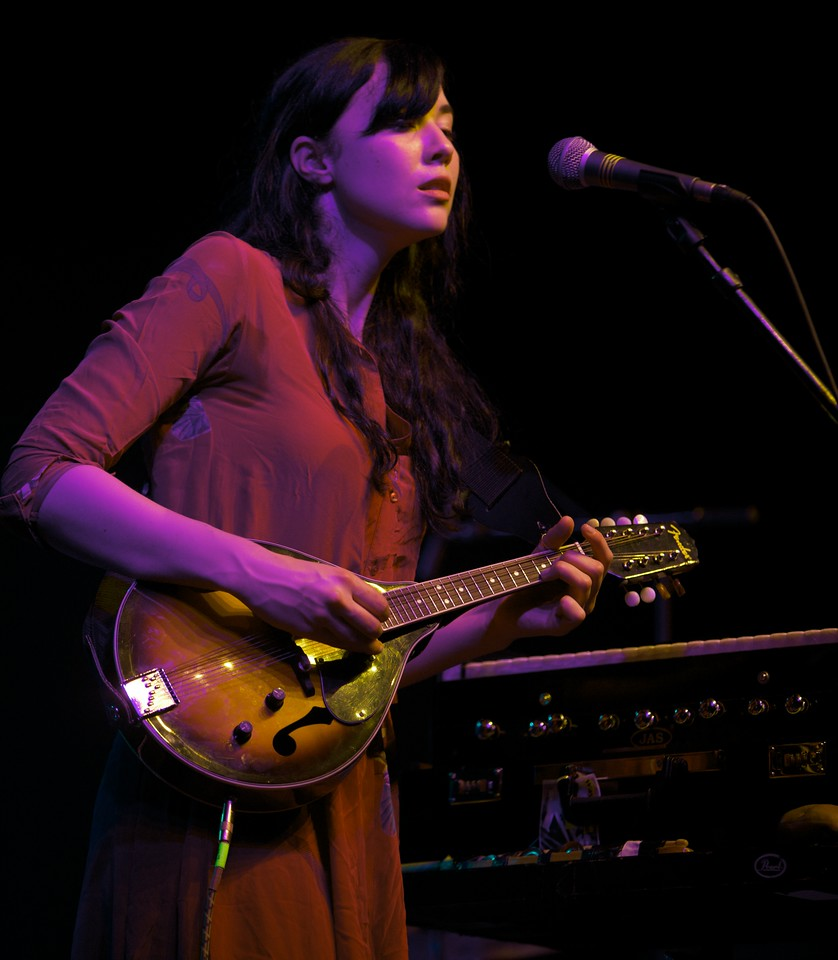 Irish singer Lisa Hannigan play at MIDEM on 1/25/10