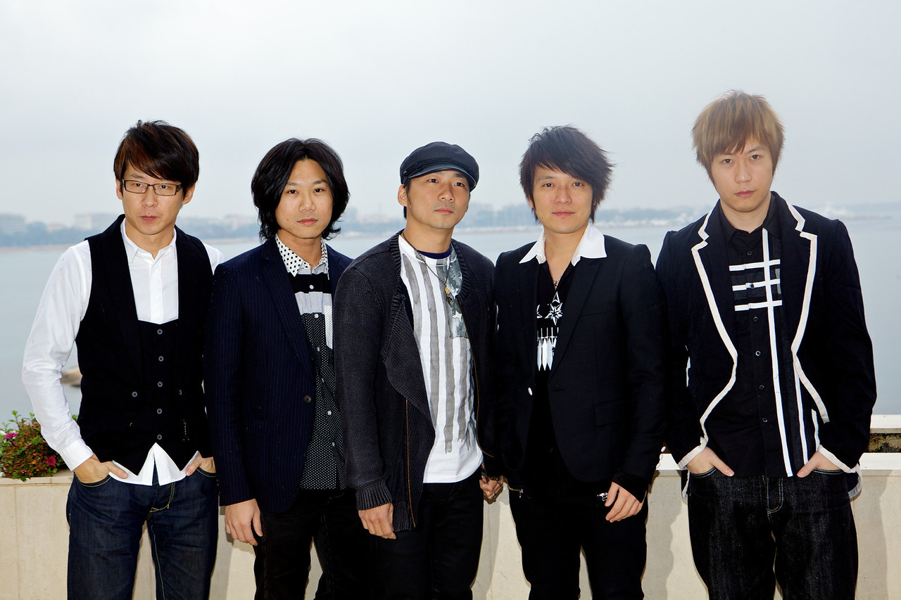 Taiwanese alternative rock band May Day during a MIDEM 2012 photocall