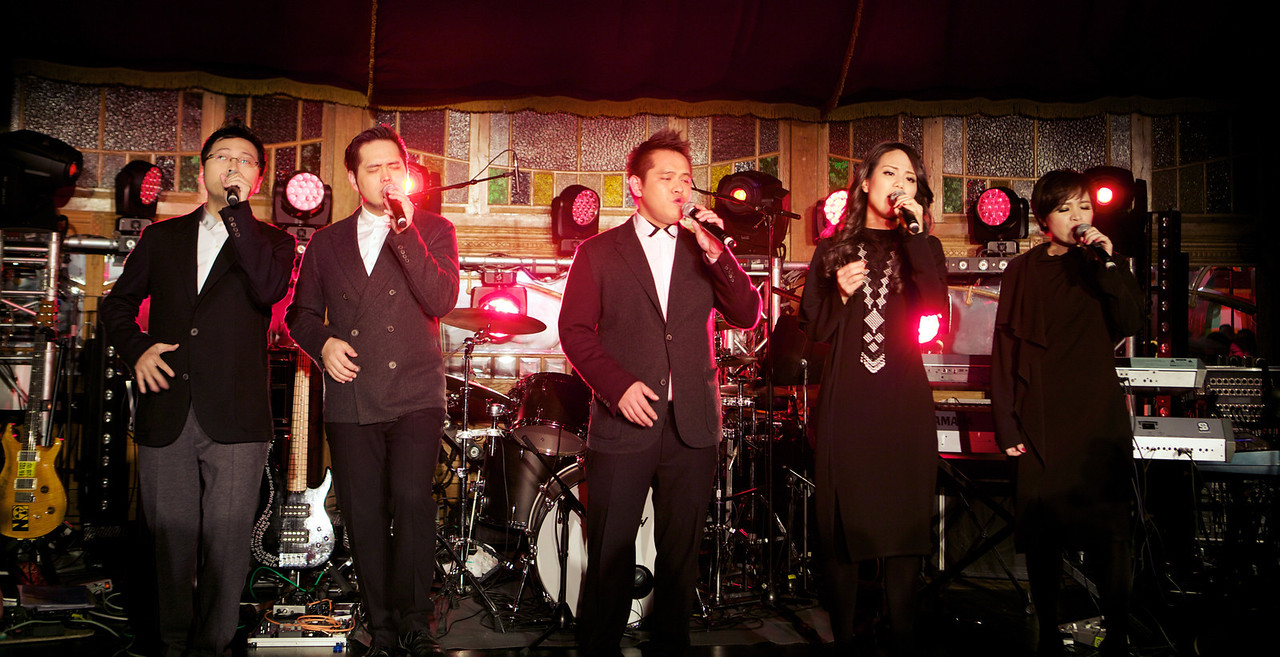 Taiwanese band O-Kai Singers performs at MIDEM 2014