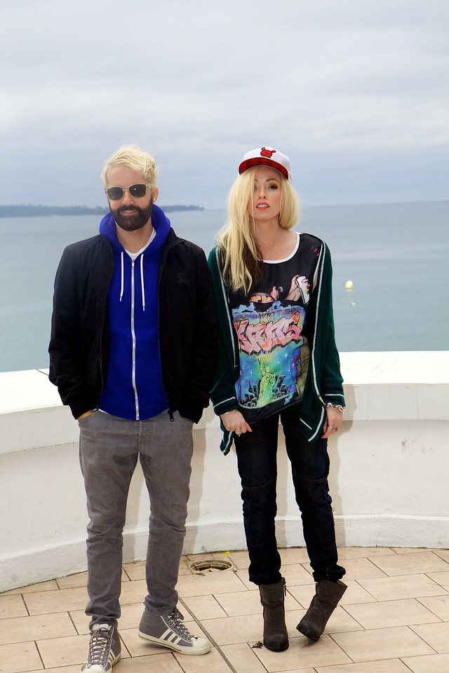 English duet the Ting Tings - MIDEM 2012 photocall